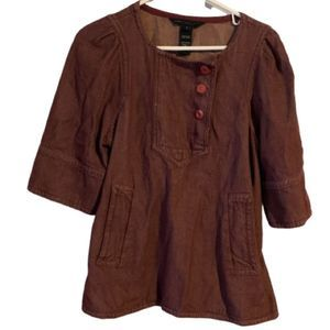 Marc by Marc Jacobs Rust Colored Boxy Tunic Top